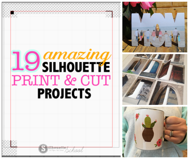 silhouette cameo print and cut project ideas tutorials troubleshooting