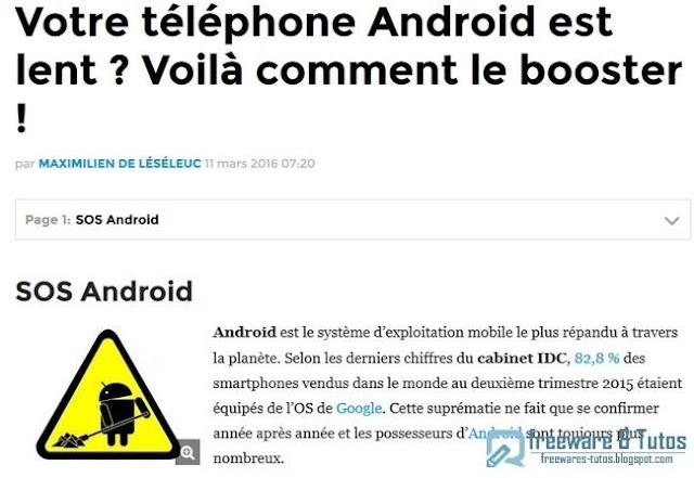 Le site du jour : comment booster son smartphone Android ?