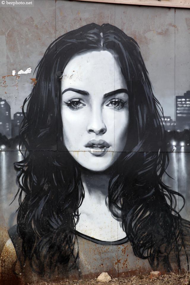 портреты граффити