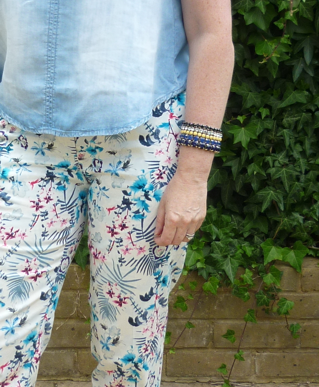 Chambray Crop Top & Bracelets | Petite Silver Vixen
