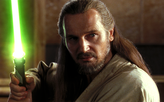 Liam Neeson as Qui-Gon Jinn