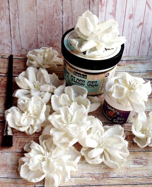 самодельные цветы, цветы из ткани