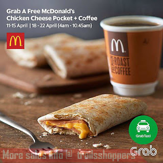 Grab Taxi get FREE McDonald's Cheese Pocket