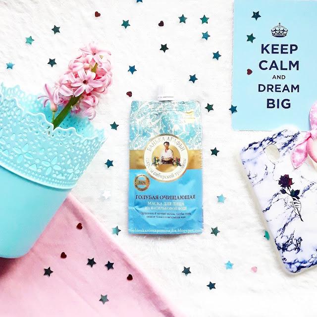 Niebieska maseczka oczyszczająca Receptury Babci Agafii