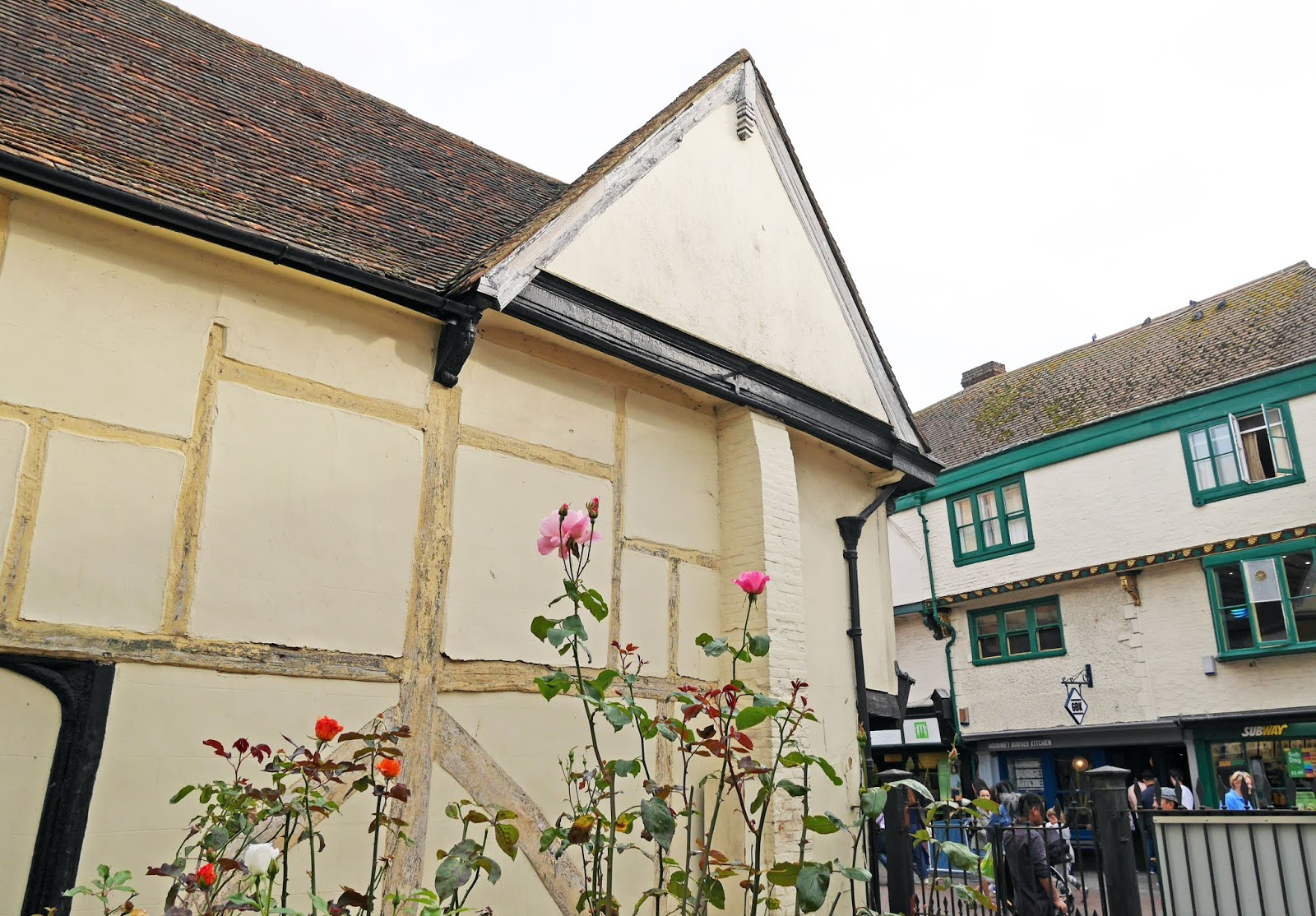 Old buildings on Canterbury high street