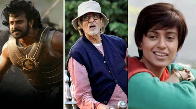 63rd National Film Awards, Winners, Amitabh Bachchan for Piku, Kangana Ranaut for Tanu Weds Manu Returns, Baahubali