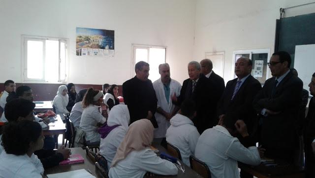 زيارة السيد وزير التربية الوطنية والتكوين المهني للمديرية الإقليمية لمراكش