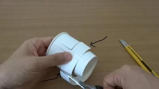 kerajinan tangan dari gelas plastik air mineral