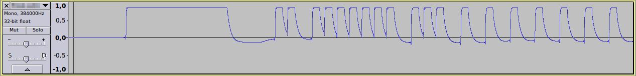 IR waveform in Audacity - screenshot