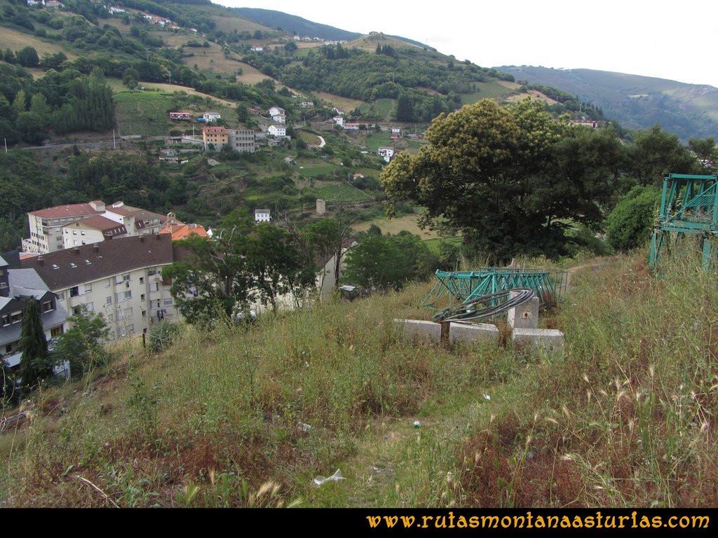 Ruta Cangas - Acebo: Atajo al Corral desde la Avenida del Acebo