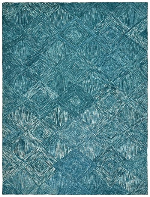 Motion Patterned Wool Rug