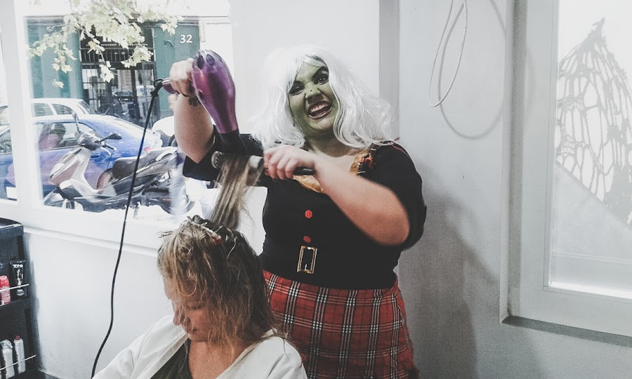 halloween peluqueria valencia