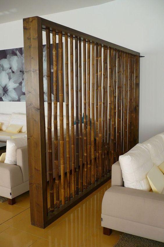 Contoh Sekat Ruangan Minimalis Sederhana Dari Bambu