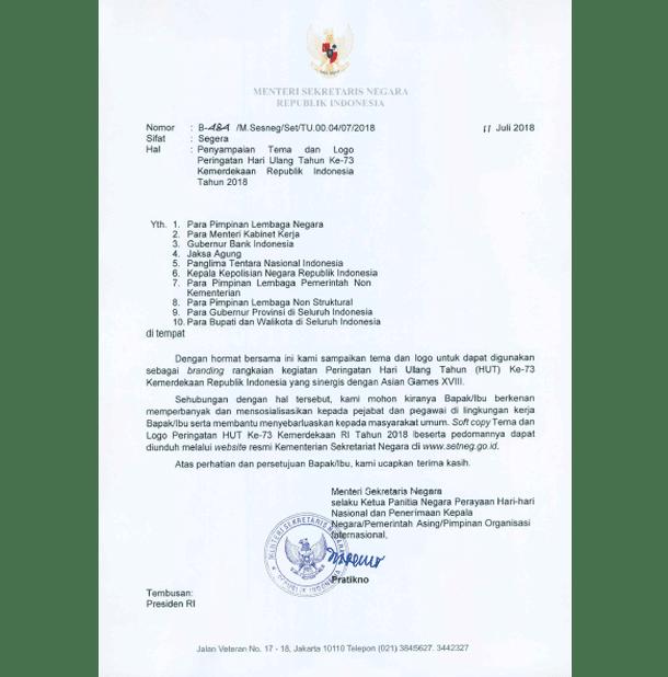 Tema dan Logo HUT Kemerdekaan RI Ke-73 Tahun 2018