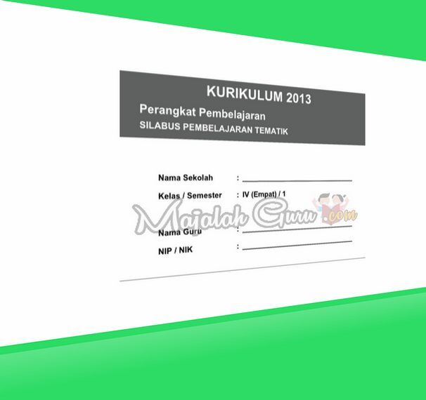 RPP SILABUS Kurikulum 2013 Kelas IV Semester 1 dan 2 Revisi 2016 Integrasi