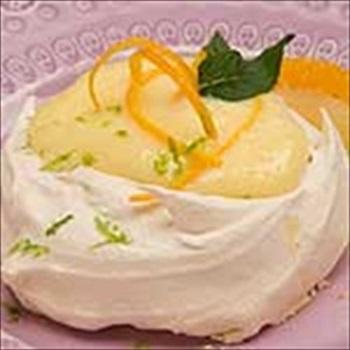 The Recipe File: Brown Sugar Meringues with Citrus Curd