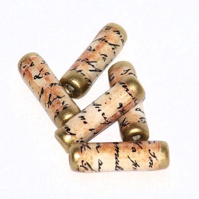 Script paper beads