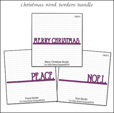 Our Daily Bread Designs Christmas Word Borders Bundle
