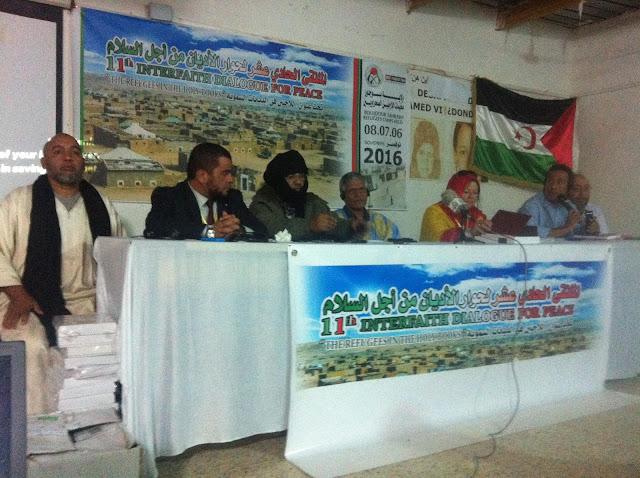 الملتقى الدولي الحادي عشر لحوار الاديان يسلط الضوء على الوضعية الانسانية التي يعيشها الشعب الصحراوي مقسما بين الملاجئ والمناطق المحتلة