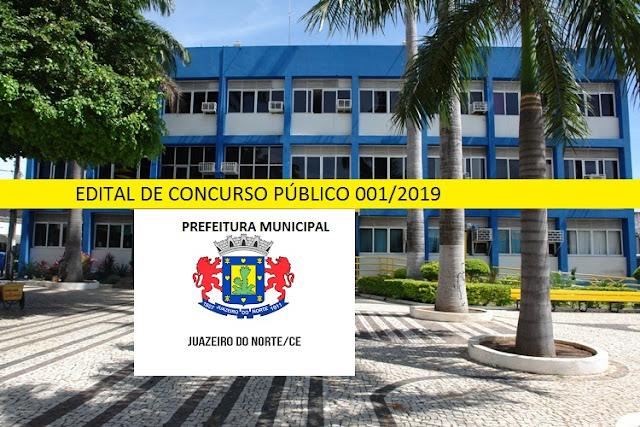 Edital Prefeitura de Juazeiro do Norte: concurso oferece 1.815 vagas