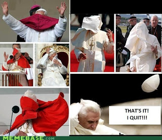 pope quits after wind blows his clothes around