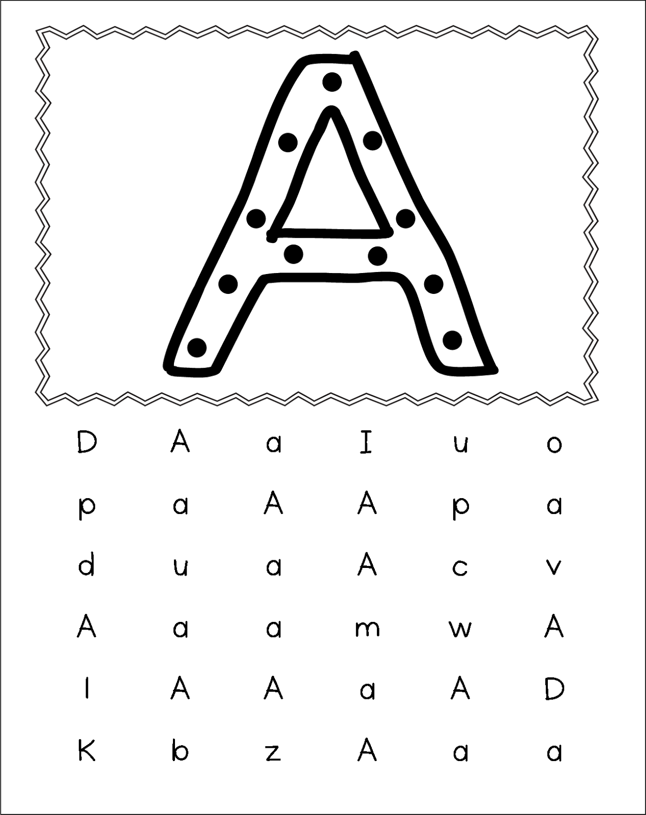 inspired by kindergarten center books alphabet recognition fine motor skills. Black Bedroom Furniture Sets. Home Design Ideas
