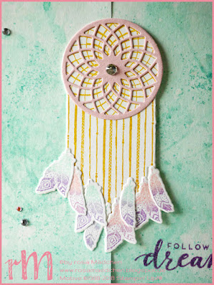 Stampin' Up! rosa Mädchen Kulmbach: Abschiedskarte mit Follow your dreams und Thinlits Traumfänger