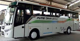 harga tiket bus putri jaya baru jurusan Cirebon, Tegal, Pemalang, Pekalongan