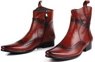 Sepatu Boot Koboi, Koboy, Cowboy Kulit Asli Jungle