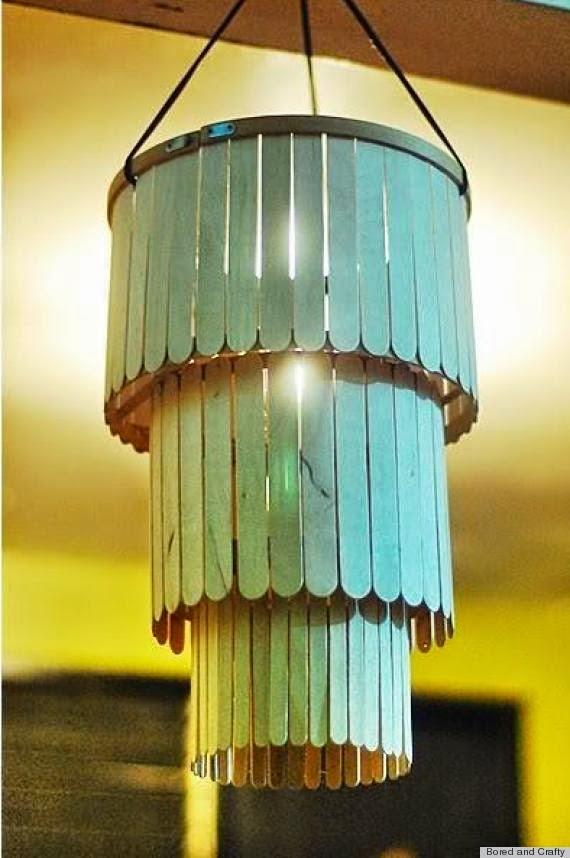 hiasan lampu dari stik es krim