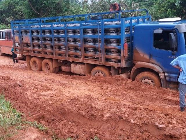 Atoleiros impedem chegada de combustível a Aripuanã