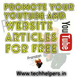 YouTube and website promotion