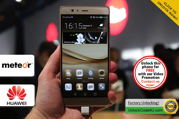 Factory Unlock Code Huawei P9 from Meteor