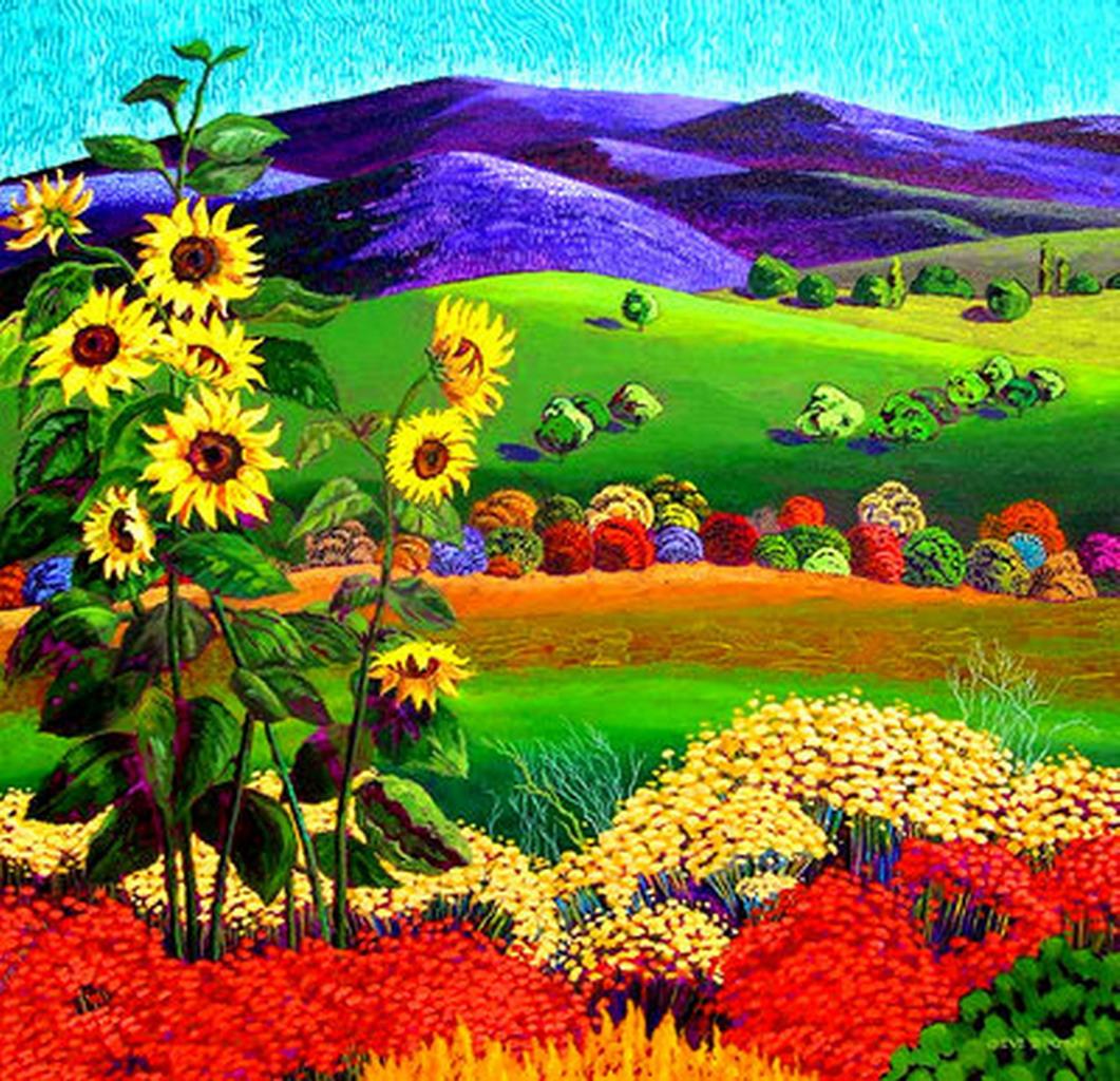 Cuadros modernos pinturas y dibujos cuadros de paisajes - Cuadros de colores ...