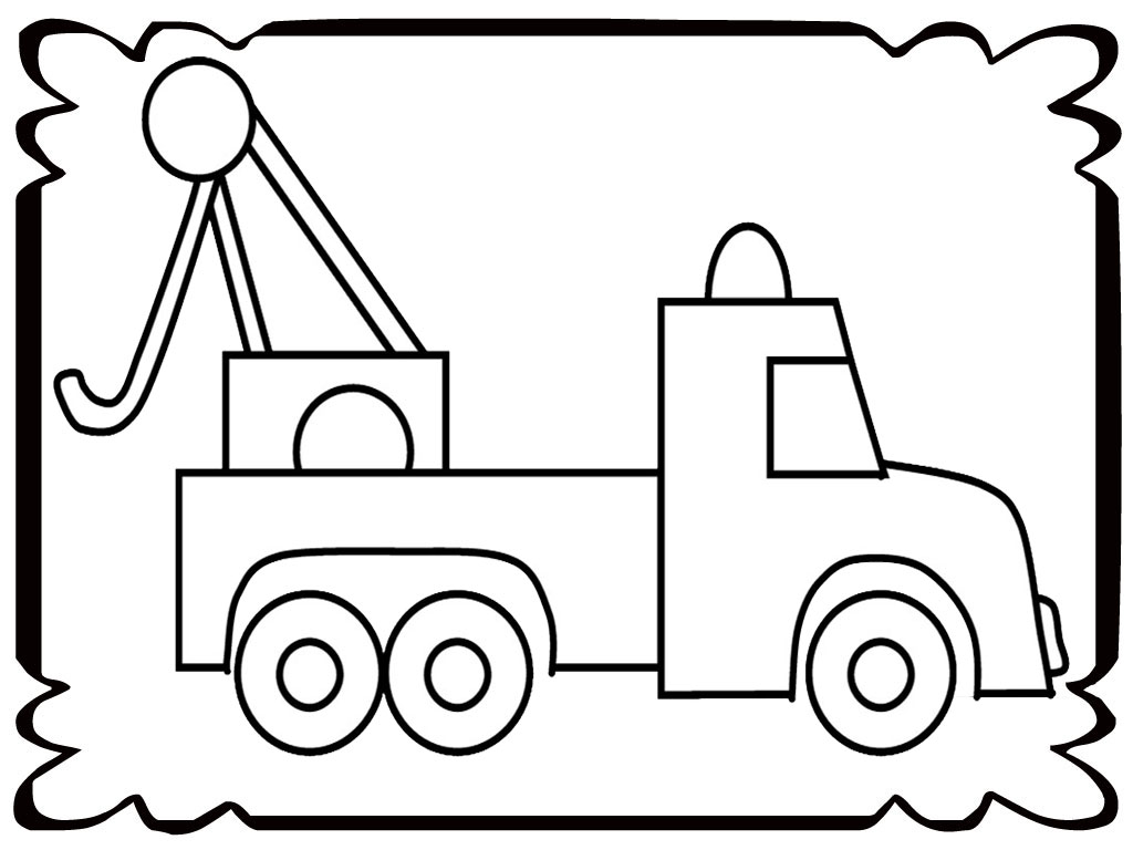 Simple Tow Truck Coloring Pages Realistic Coloring Pages