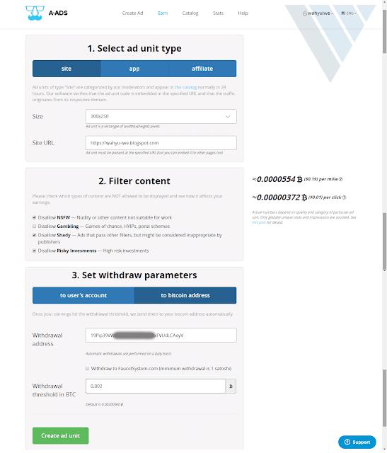 Cara Daftar Menjadi Publisher di a-ads.com