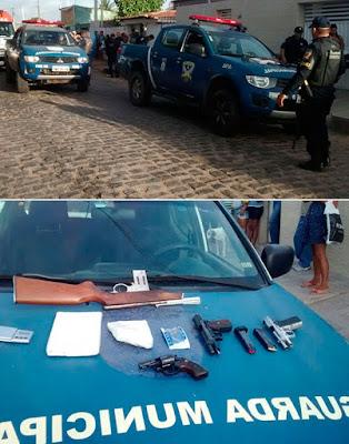 Marginais trocam tiros com Guarda Municipal de Natal (RN) e acabam presos