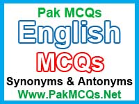 synonyms and antonyms mcqs, english mcqs, learn english graimer