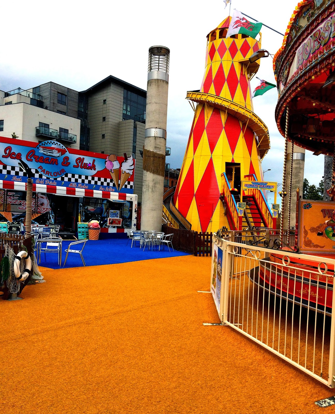 Helter Skelter Cardiff Bay Beach, Cardiff Bay, Things to do in Summer in Cardiff, Cardiff, Tiger Bay