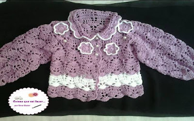 Vestido infantil de crochê para festa