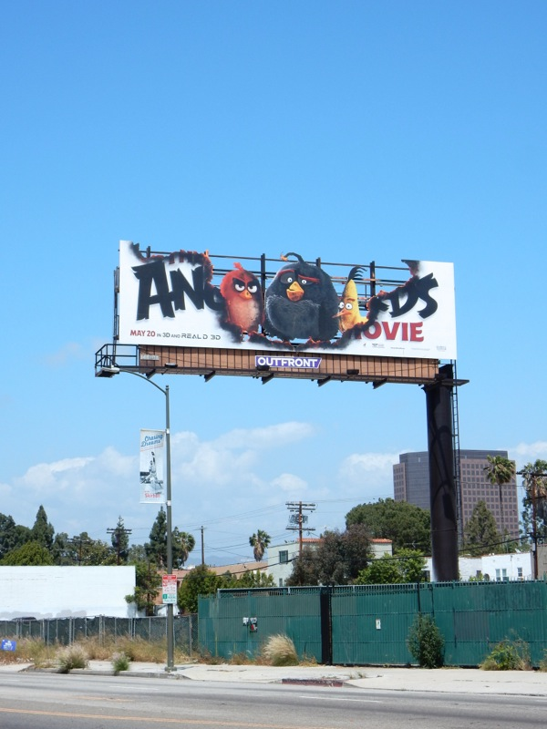 special Angry Birds Movie billboard