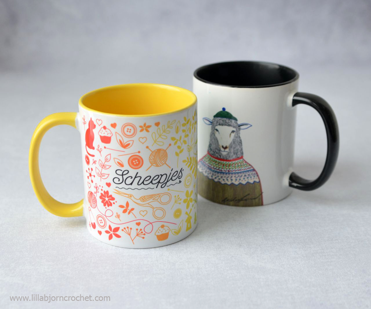 Scheepjes mugs. Creative gift guide by www.lillabjorncrochet.com