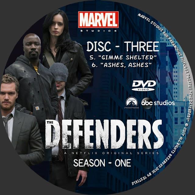 The Defenders Season 1 Disc 3 DVD Label
