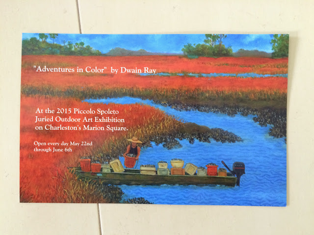 "Dwain Ray ""Adventures in Color"" at the 2015 Piccolo Spoleto Festival Art Exhibition 