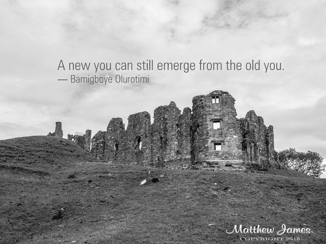 """A new you can still emerge from the old you."" ― Bamigboye Olurotimi"
