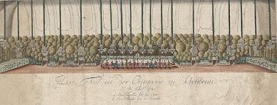 décoration de l'orangerie de Schönbrunn, où se tint le duel entre Prima la musica poi le parole et le Directeur de Théâtre