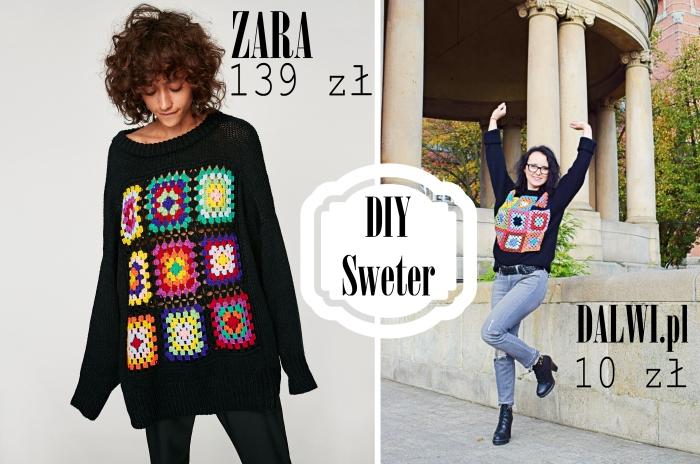 DIY - Szydełkowy sweter za 10 zł!