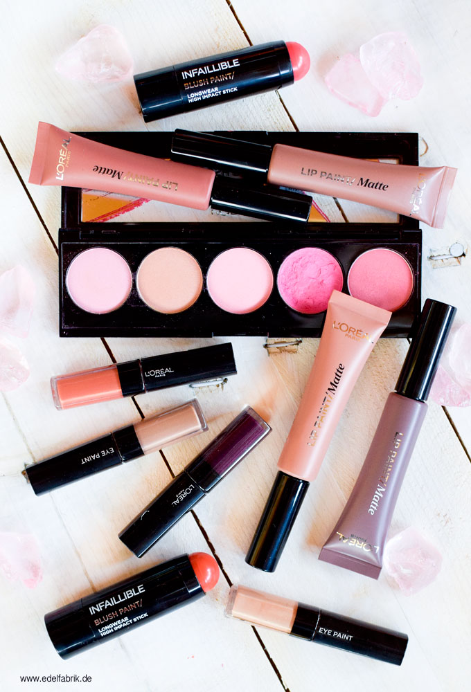 Loréal Paris Infaillable Lip Paint Matte Eye Paint Und Blushes In