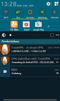 Trik internet gratis VPN di android