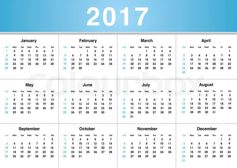 Happy New Year 2017 Calendar - Free Download